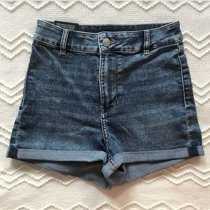 H&M High Waisted Stretch Denim Shorts Size 4